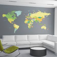 home decor line wallpops home decor line colored map wall decal reviews wayfair