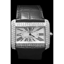 cartier divan montre cartier divan quartz cuir r礬f a142639 instant luxe