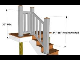 Deck Stair Handrail Stair Railing Height For Deck Stair Railing Height On Deck Youtube