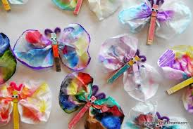 Meaningful Butterfly - coffee filter tie dye butterflies