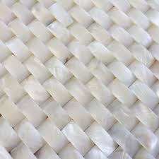 arrival 3d white brick shell mosaic tile groutless kitchen