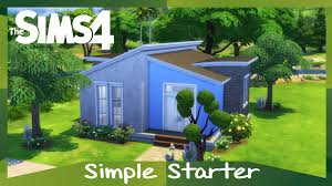 Sims House Ideas by The Sims 4 Simple Starter Speed Build Starter Home Youtube