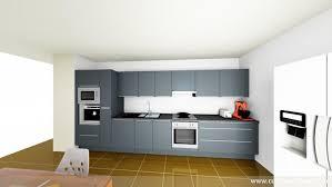 cuisine lineaire agencement de cuisine ouverte get green design de maison