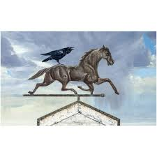 Horse Weathervane For Barn Storm Rider Horse Weathervane With Raven Rider Richard Hall
