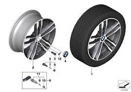 20 m light alloy double spoke wheels style 469m realoem com online bmw parts catalog