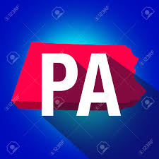 Map Of The Usa by Pennsylvania Pa Letters On A 3d Map Of The State As Part Of The