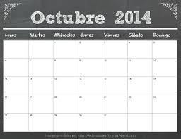 imagenes calendario octubre 2015 para imprimir calendarios 2014 con diseño de pizarra calendario octubre 2014