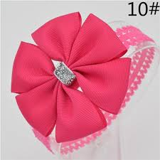 toddler hair bows 22 color new baby hair bow flower headband bowknot ribbon newborn