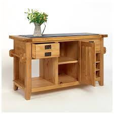 oak kitchen island 50 rustic oak kitchen island with black granite top
