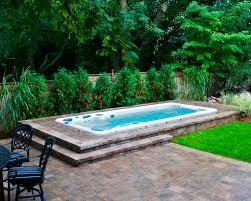 hydropool self cleaning swim spa installed inground swim spa