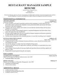 hospitality management resume samples hotel resume sample by fair