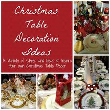 Christmas Table Decoration Red by Christmas Table Decorations