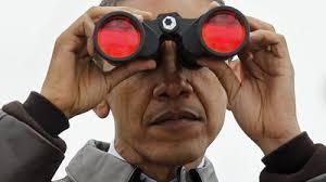 Obama Sunglasses Meme - binoculars nsa