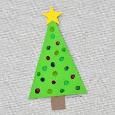 q tip painted christmas tree craft u0026 ornament the resourceful mama