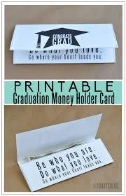 printable graduation money holder card