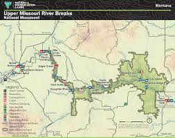 map of missouri river visiting the breaks of the missouri breaks monument