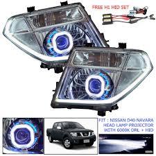 nissan frontier gas light head lamp light led pickup drl hid projector for nissan d40 navara