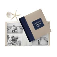 Monogrammed Photo Albums Linen Photo Album Navy Mark And Graham