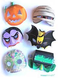 spooky printable halloween masks 10 easy make diy halloween masks