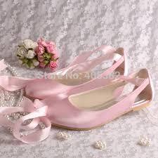 Prom Shoes Flats Aliexpress Com Buy Wedopus Wedding Bridal Ballet Flats White