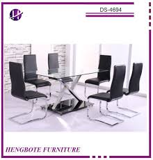 Wholesale Dining Room Sets Glass Dining Table 6 Chairs Set Glass Dining Table 6 Chairs Set
