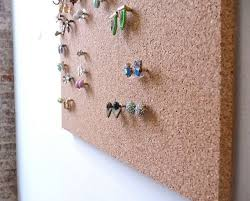 make your own earrings studs simple clean and highly functional earring storage solution made