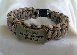 christian bracelet men s camo christian paracord bracelet with bronze charm