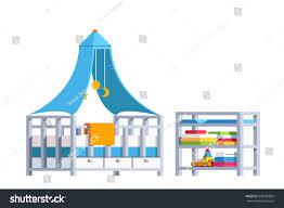 modern minimalist design room interior toddler stock vector