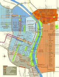 map of oregon portland pearl district walking map portland oregon map portland oregon