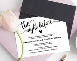Rehearsal Dinner Invites Wedding Invitations Etsy