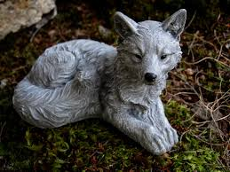 fox statue fox sculpture concrete fox figure small concrete
