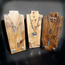 necklace display stand images Necklace display jewelry display set of 3 necklace stand wood jpg