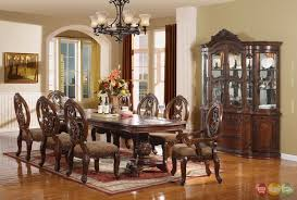 Dining Room Chairs Cherry Windham Formal Dining Set Cherry Brown Wood Carved Dining Room Set