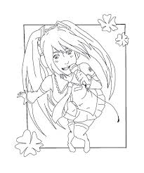 hatsune miku chibi coloring pages coloring pages