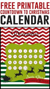 christmas countdown calendar christmas countdown free 8x10 printables