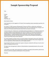7 sponsorship proposal letter model resumed