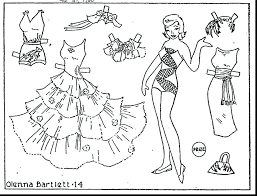 articles paper doll colouring pages tag paper doll coloring