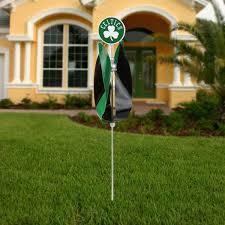 boston celtics spinning tulip lawn ornament green black