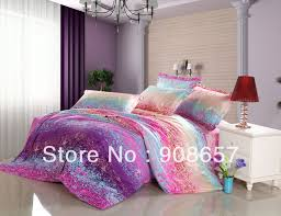 Cheap Full Bedding Sets by Purple Pink Blue Omber Abstract Prints Cotton Bedding Girls Bed