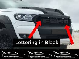 front grill ford ranger px 2 ford ranger front grill insert with led s ford lettering