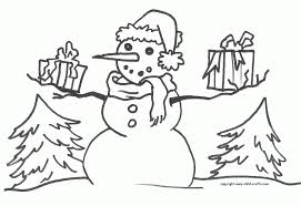 frosty snowman pictures color kids coloring