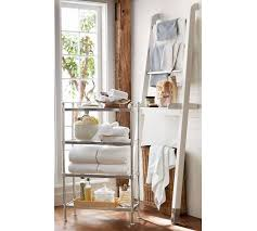 Over The Toilet Table Napa Ladder Storage Pottery Barn