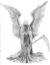 drawn angel angel death pencil and in color drawn angel angel death