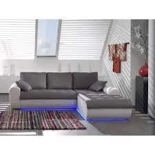 vente flash canap d angle flash canapé simili et tissu 4 places 245x187x85 cm gris blanc