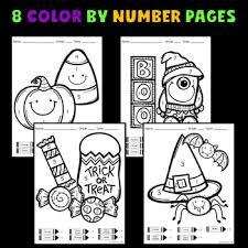 halloween math activities halloween color number jewel u0027s