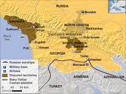 south ossetia map war 2008 perry castañeda map collection ut library