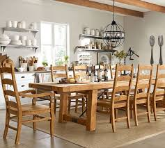 pottery barn dining room tables benchwright extending table wynn chair dining set pottery barn
