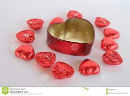 love heart chocolate valentines day stock photo image 49339292