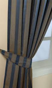 Purple And Cream Striped Curtains Pencil Pleat Jacquard Striped Curtains Fully Lined Blue Cream