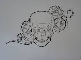 skull and rose tattoo drawings pictures to pin on pinterest
